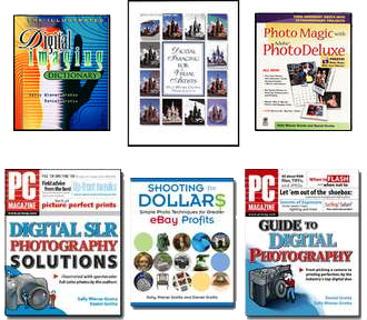 Some of the digital imaging & photography books by Sally Wiener Grotta