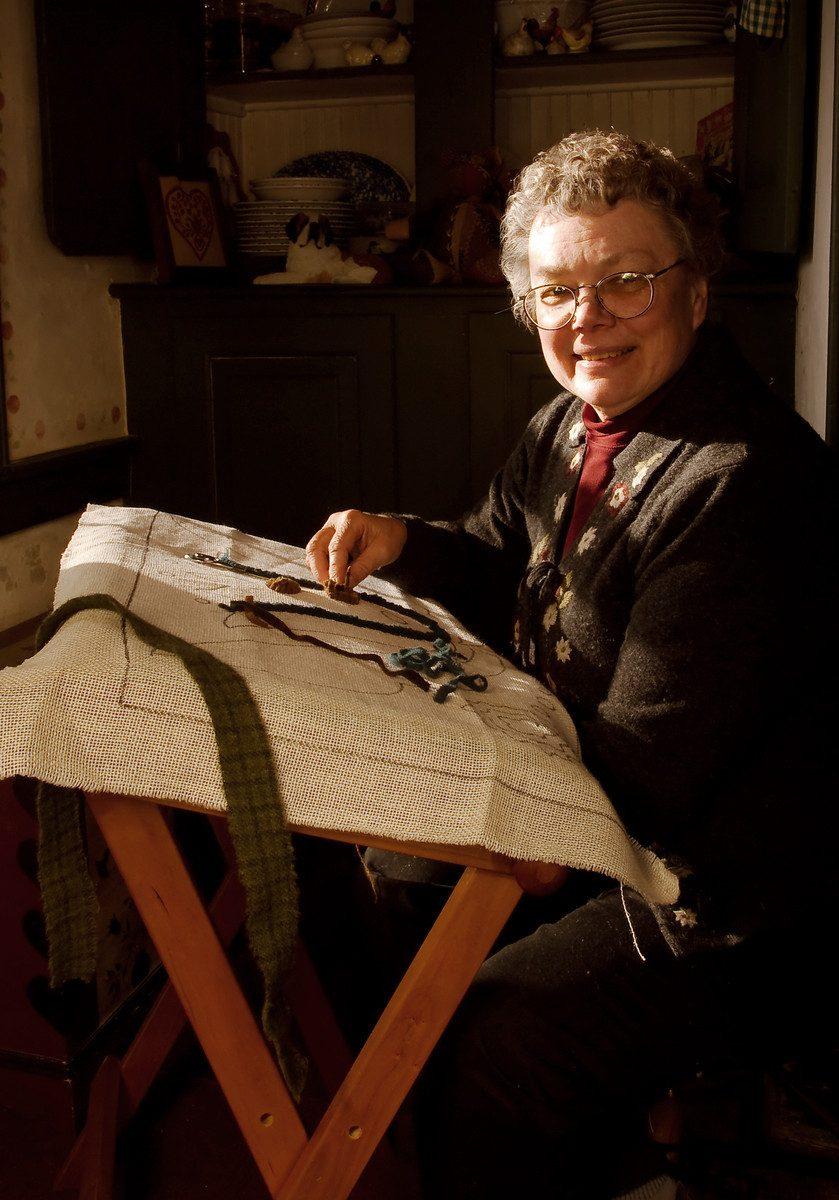 Janice Sonen, rug weaver by Sally Wiener Grotta