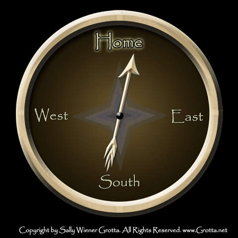 Pointing My Compass Toward Home by Sally Wiener Grotta