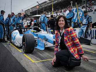 Sally at the Indy500 by Harvey Biggs