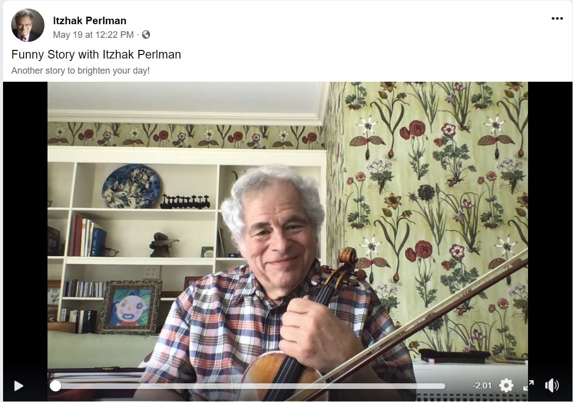 Itzak Perlman: a story & some music