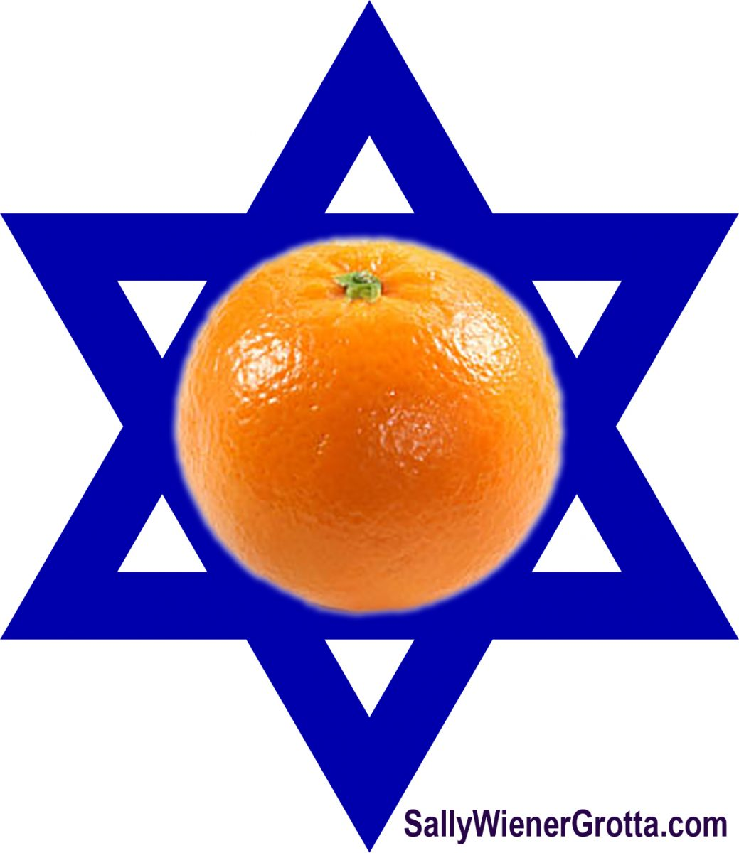 Orange on a Star of David