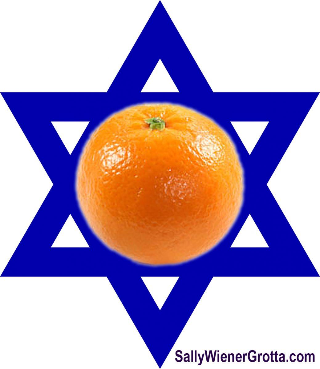 Orange on a Star of David