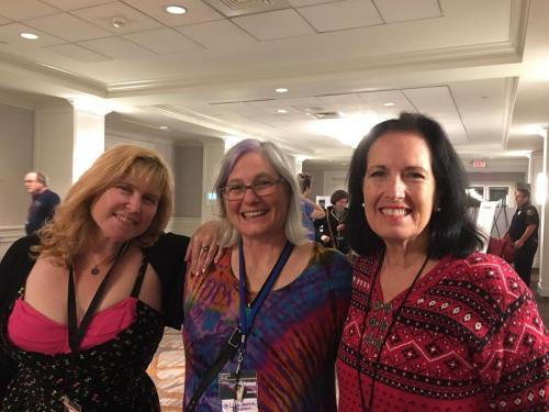 Randee Dawn, LJ Cohen and Sally Wiener Grotta at Readercon 2018