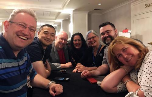 Alex Shvartsman, Ken Liu, Ian Randal Strock, Sally Wiener Grotta, Lisa Janice Cohen, John Murphy and Randee Dawn at Readercon 2018